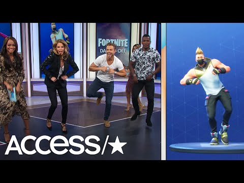 Derek Hough Absolutely Nails The \'Fortnite\' Dance Challenge | Access