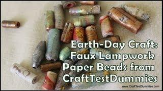 Gambar cover Faux Lampwork Paper Bead Tutorial