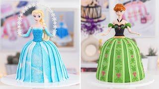 FROZEN CAKES - ELSA & ANNA Doll Cakes - Tan Dulce