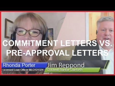 30 - Commitment Letters Vs. Pre-approval Letters