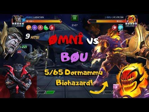 AW ØMNÎ vs BØU! 5/65 Dormammu on Biohazard! Path 8! Symbiote Supreme? - Marvel Contest of Champions