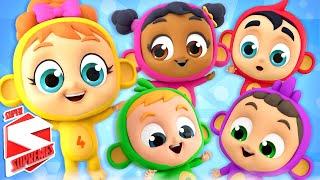 Five Little Monkeys | Monkey Song | Nursery Rhymes For Babies | Kids Songs | Pretend Play Song