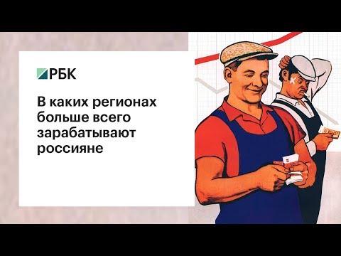 В каких регионах больше всего зарабатывают россияне