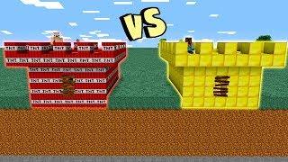 CASTELO DE OURO VS. CASTELO DE TNT (MINECRAFT BATALHA)