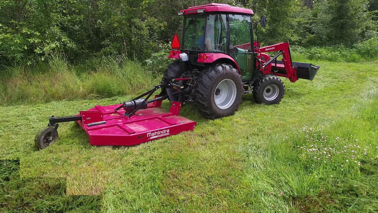 Brush Hogging the Field with the Mahindra 5010 and Brush Hog