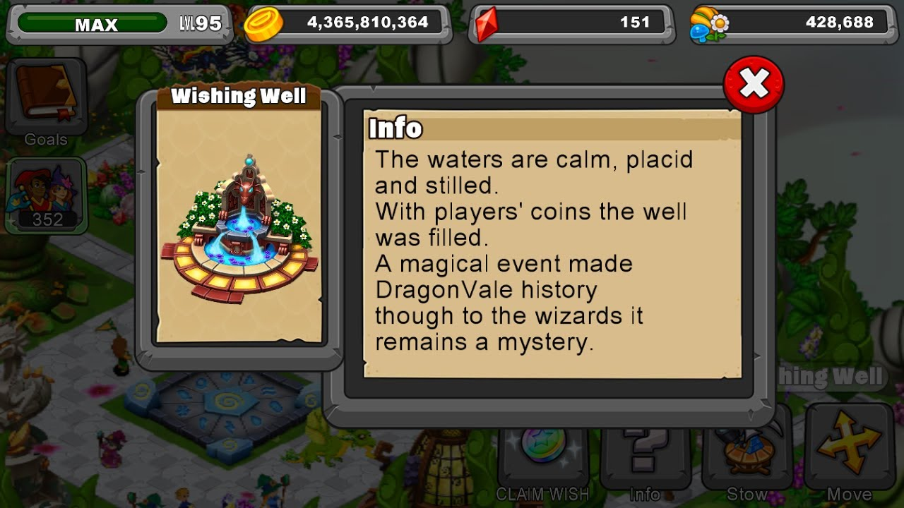 How does the Wishing Well work in Dragonvale!