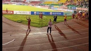 Công Vinh cùng cầu thủ và Hội CĐV Ultras City ăn mừng sau trận thắng HAGL!!!