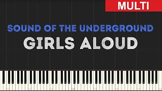 Girls Aloud - Sound of the Underground (Instrumental Tutorial) [Synthesia]