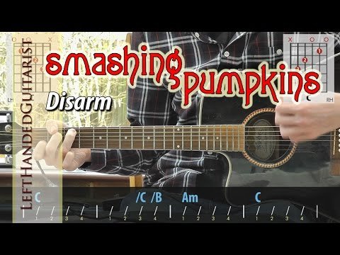 Smashing Pumpkins - Disarm guitar lesson for beginners (no song audio)