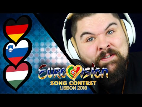 Reviewing Eurovision Song Contest 2018. GERMANY, SLOVENIA & HUNGARY.