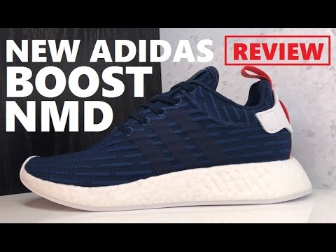 b64ad72ec83ec ADIDAS ORIGINALS NMD R2 PRIMEKNIT BOOST COLLEGIATE NAVY SNEAKER REVIEW