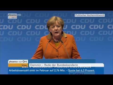 Politischer Aschermittwoch: Rede von Angela Merkel am 01.03.17