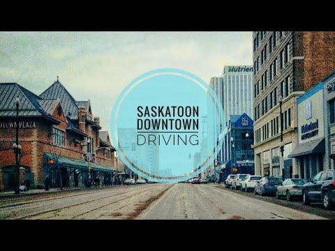 Driving Downtown- Saskatoon, Saskatchewan, Canada [3/26/2019]
