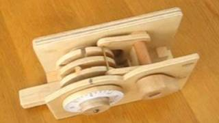 Wooden combination lock
