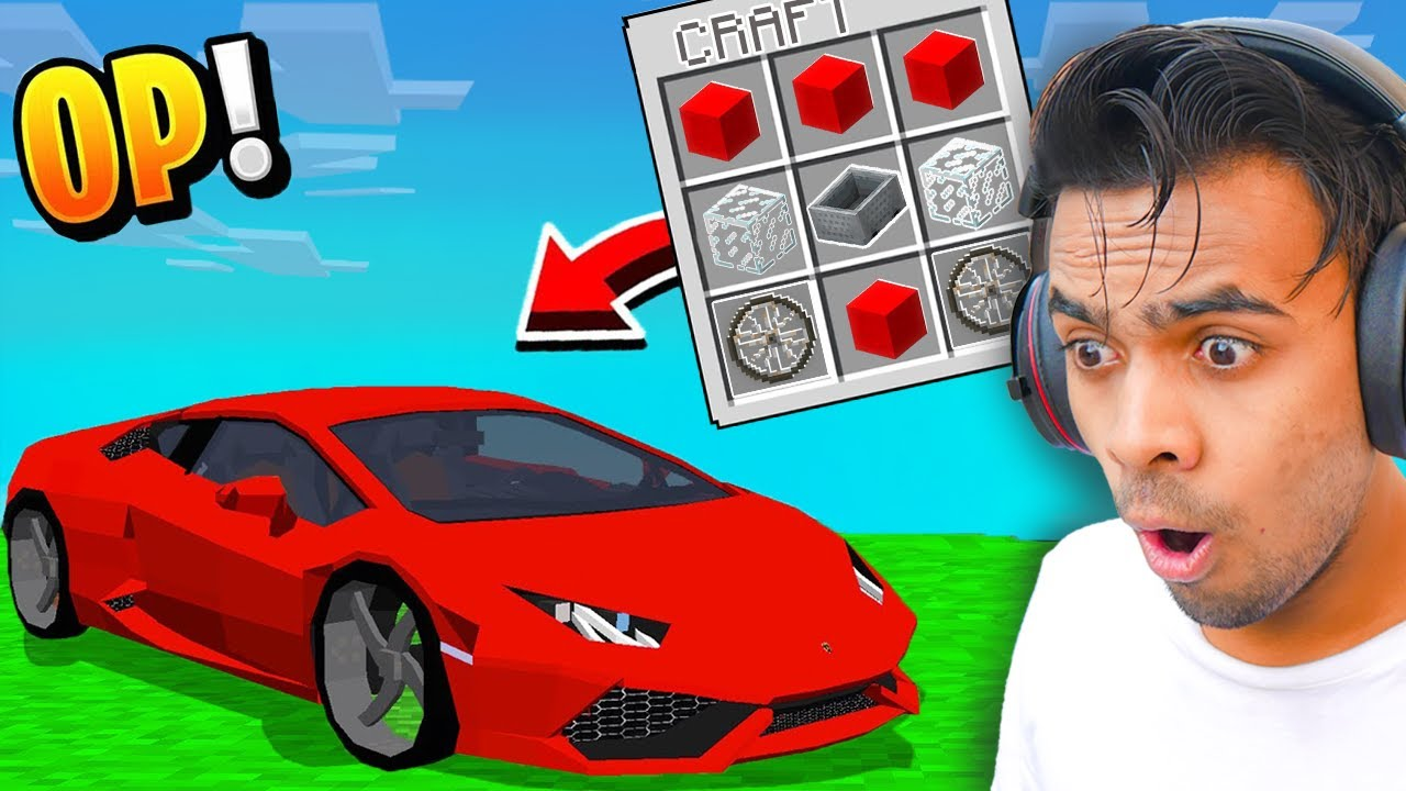I Crafted An EPIC CAR In Minecraft !!