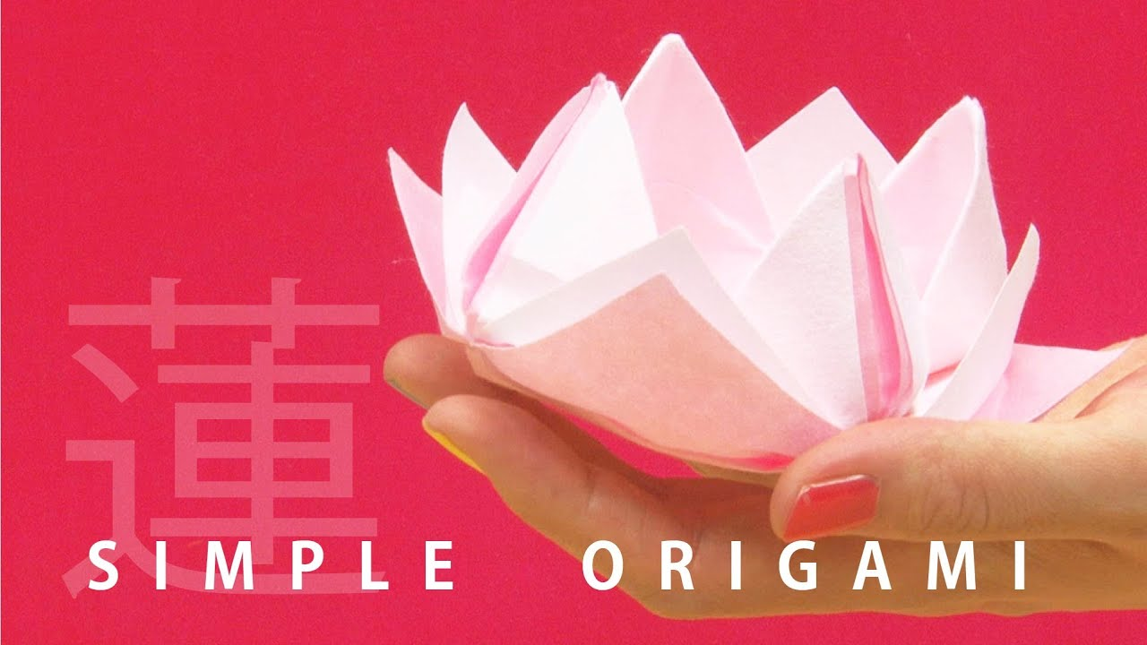 """Origami Lotus"" - 3 mins ORIGAMI Tutorial with beautiful ... - photo#48"