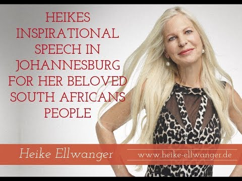 Heike´s inspirational speech in Johannesburg for her beloved ♥ ♥ ♥ ♥ ♥South Africans people