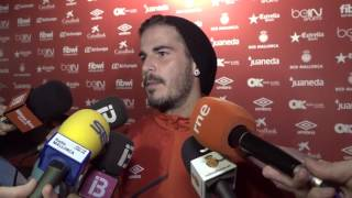 Joan Oriol tras el partido Mallorca - Valladolid