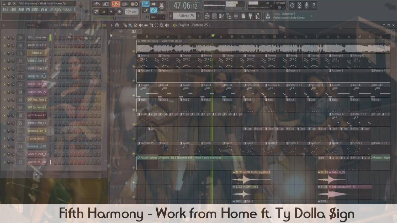 fifth harmony work from home ft ty dolla ign fl studio fifth harmony work from home ft ty dolla ign fl studio flp full version