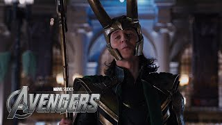 The Avengers - Captain America vs Loki HD