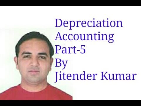 Preparation of Provision for Depreciation Account using Straight Line Method- By Jitender Kumar