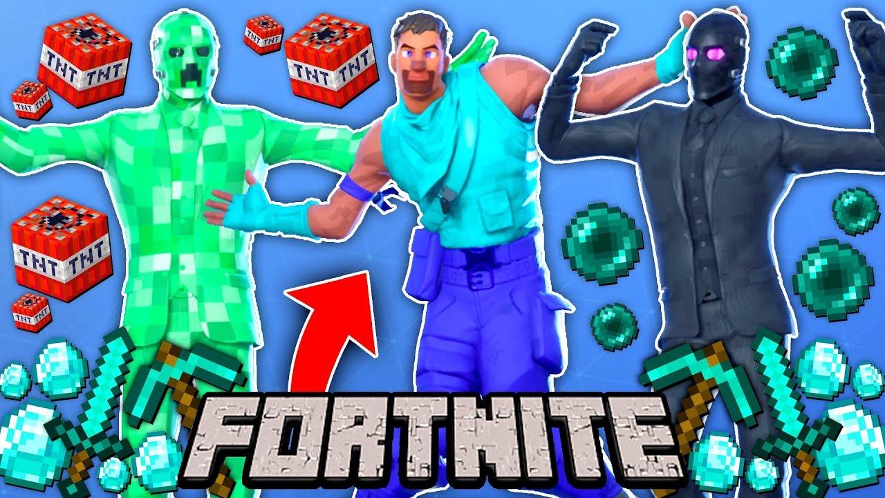 I Recreated Minecraft Skins In Fortnite Creeper Steve