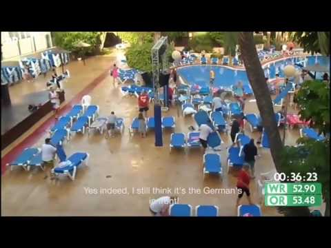 The Funniest Sun Lounger Dash Video You'll Ever See
