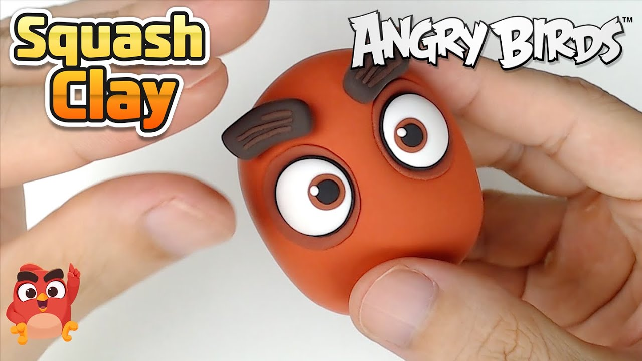 Squash Clay Making Angry Birds Red