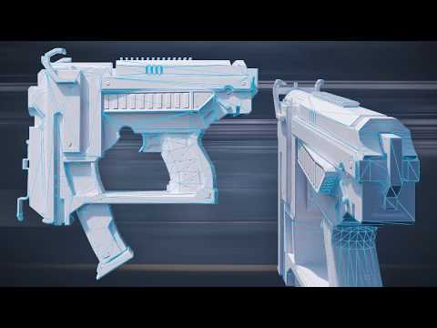 Modeling Weapons for a First Person Shooter in Blender - Course Teaser