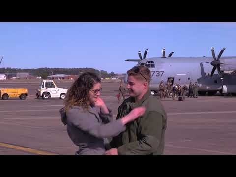 DFN: VMGR-252 Marines Return From Deployment, CHERRY POINT, NC, UNITED STATES, 03.05.2018