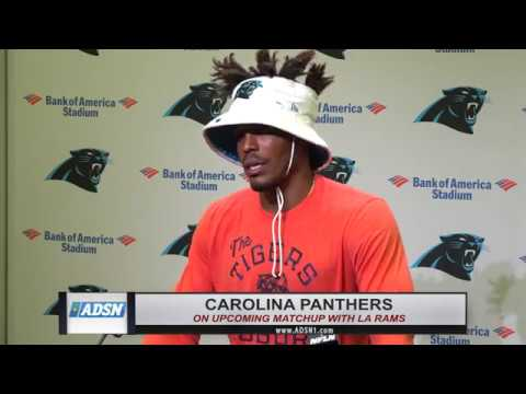 Cam Newton upbeat about week one as Panthers get set to take on LA Rams