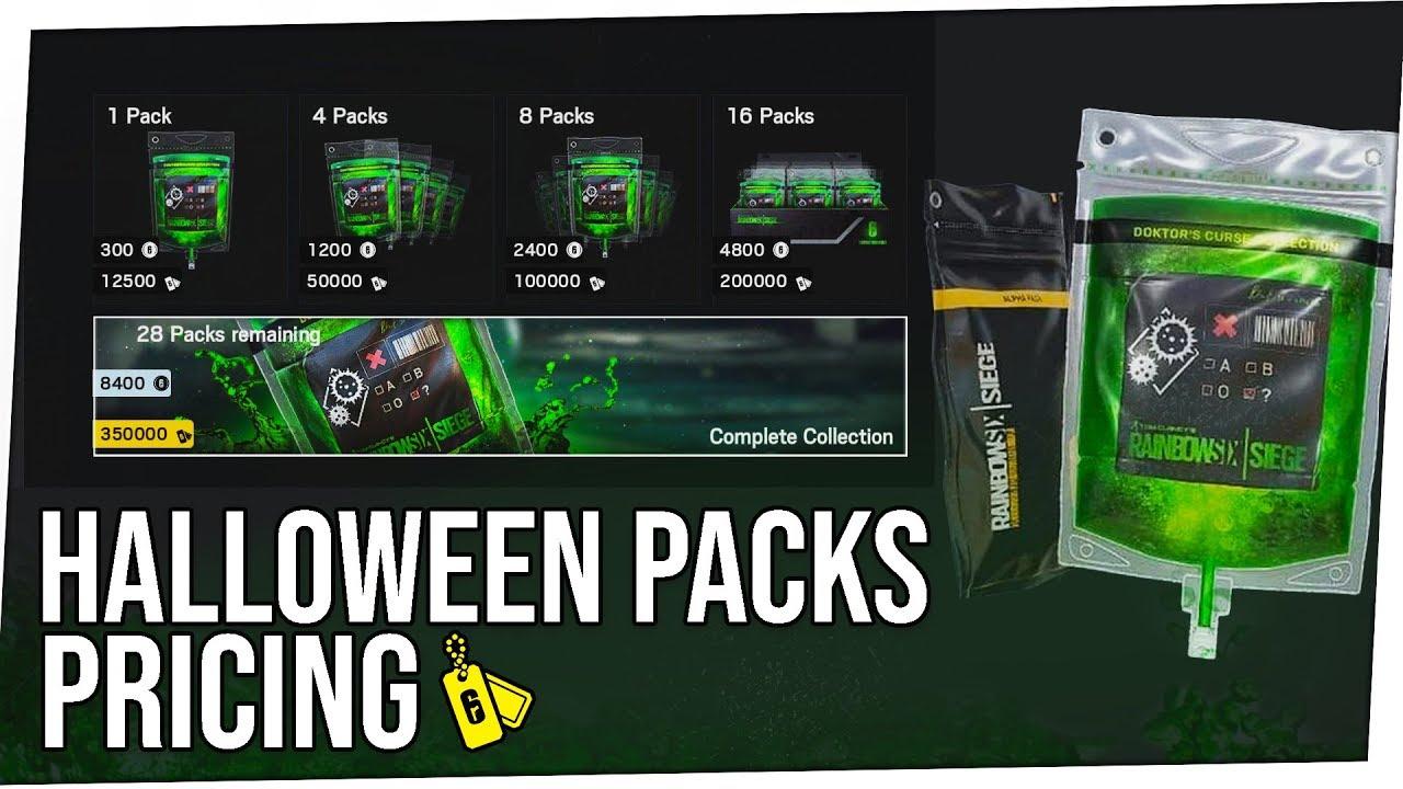Halloween Event Packs Pricing Tom Clancy S Rainbow Six Siege
