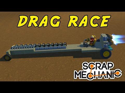 DRAG RACE  SCRAP MECHANIC med SoftisFFS