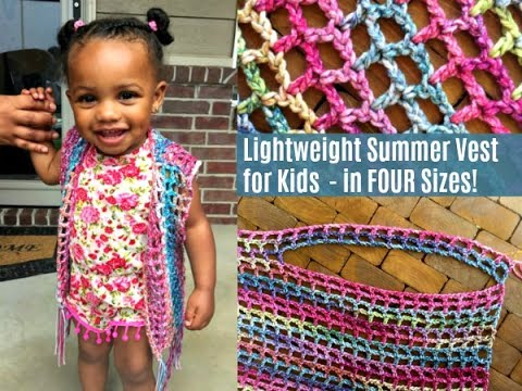 How To Crochet A Lightweight Summer Vest Crochet Pattern Youtube