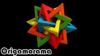 Haz un TETRAEDRO INTERSECTADO (5 intersecting tetrahedra)