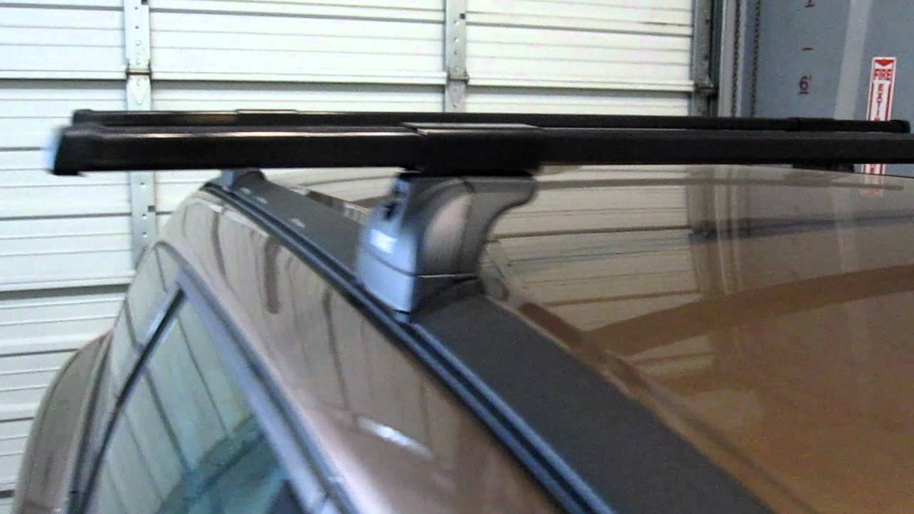 Volvo XC60 with Thule 460 Podium Base Roof Rack by Rack Outfitters - YouTube