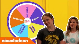 Side Hustle | Gira la rueda: ¿Qué trabajo harán Lex y Presley hoy? | Nickelodeon en Español