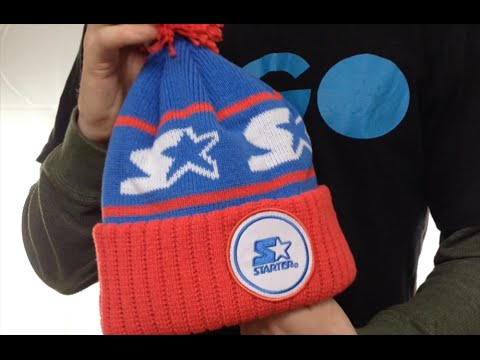 2bbd9a1f25d815 Starter S-STAR CLASSIC BOBBLE Royal-Red Knit Beanie Hat