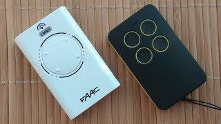 О дубликате пульта FAAC 868 SLH. 3 урока настройки универсального пульта Уни на шлагбаум ворота FAAC