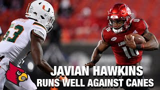 Louisville  RB Javian Hawkins Runs Well Against Canes