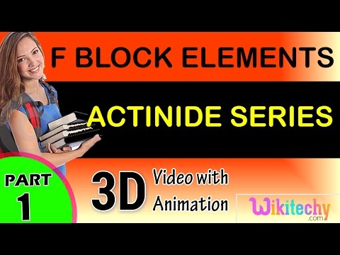 Actinide series f block elements  class 12 chemistry subject notes lectures cbse iitjee neet