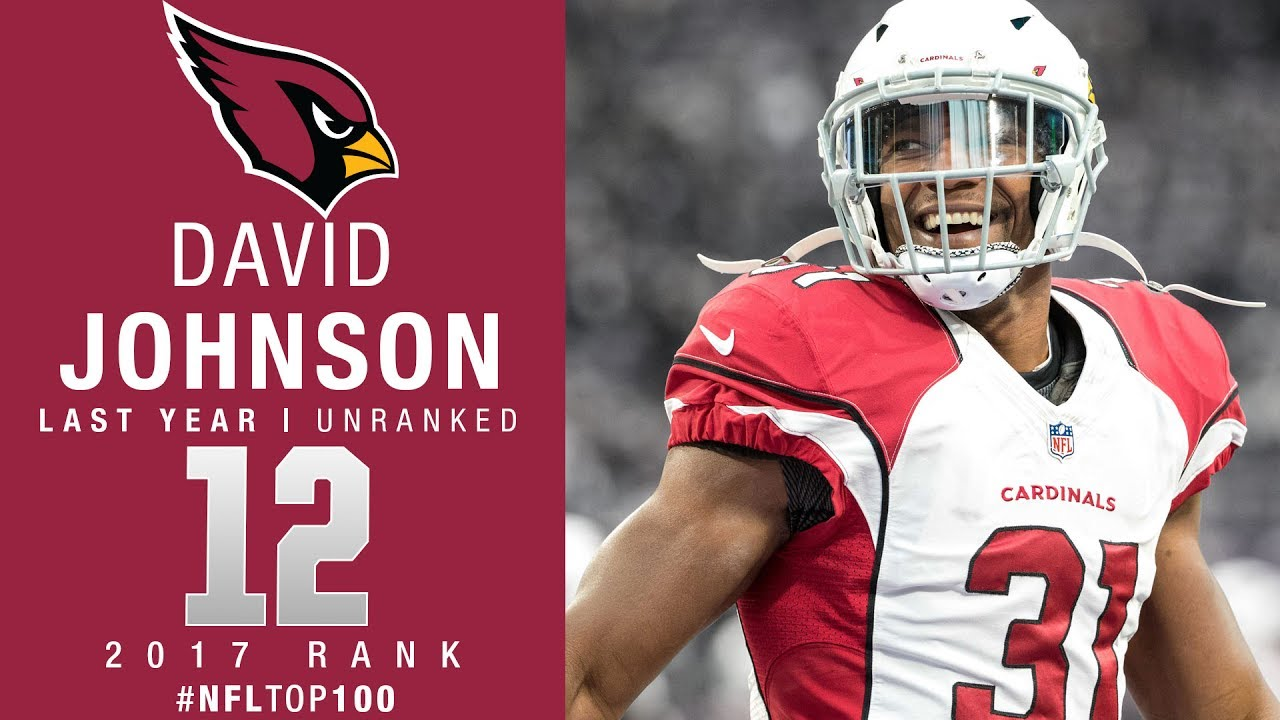 purchase cheap ab324 10783 #12: David Johnson (RB, Cardinals) | Top 100 Players of 2017 | NFL