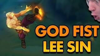 NEW LEE SIN SKIN IS THE BEST LEE SKIN EVER!! (GOD FIST LEE SIN GAMEPLAY) - PBE League of Legends