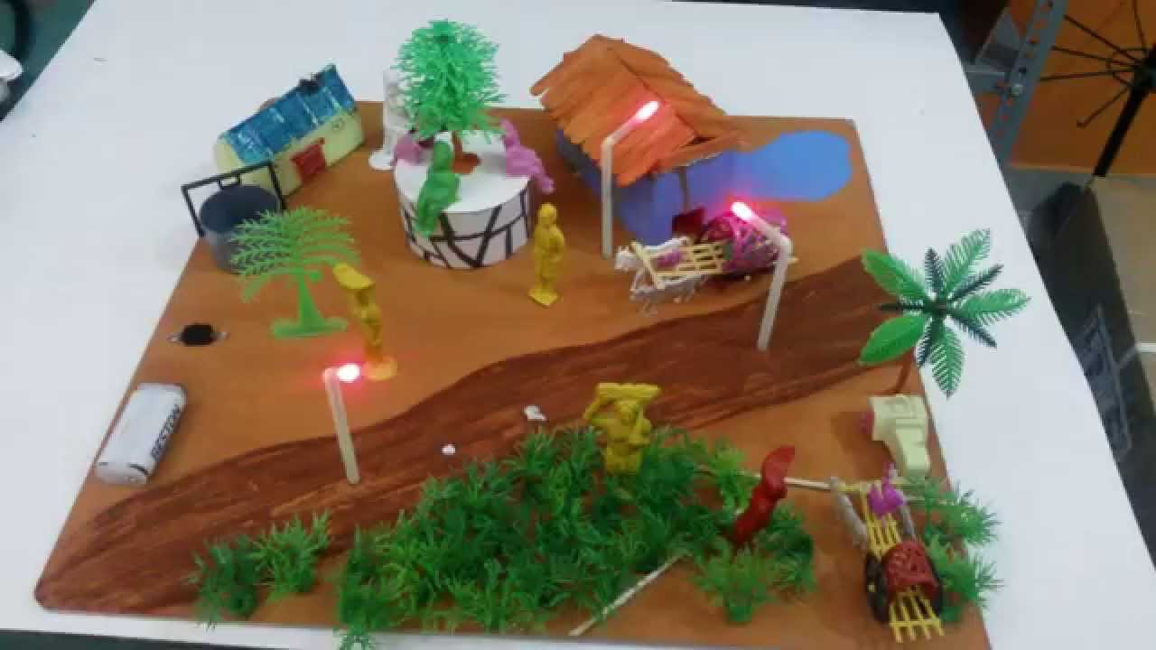 Simple Village Model School Project Science Projects Youtube