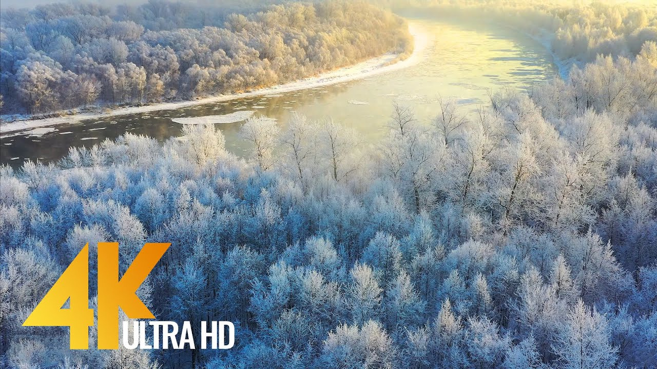 Lighter Than The Wind - 4K Drone Footage of South Ural, Russia - Fall and Winter Nature from Above
