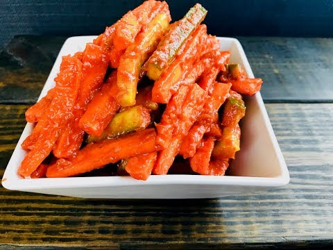 Homemade Carrot Pickle or Condiment with Raihana's Cuisines
