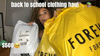 BACK TO SCHOOL TRY-ON HAUL | fashion nova, forever 21+ more
