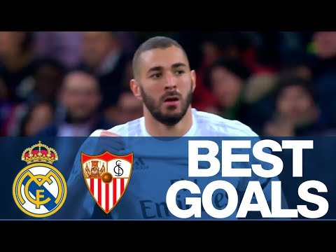 Real Madrid's BEST GOALS against Sevilla at the Bernabéu!