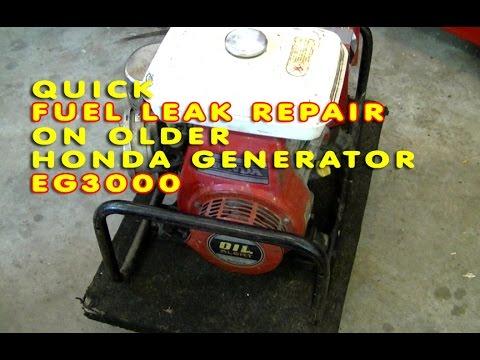 Fuel Leak Repair On Older Honda Generator GE3000