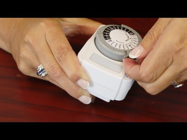 Programmable Heavy Duty 24 Hour, Outdoor Timer For Lights Instructions
